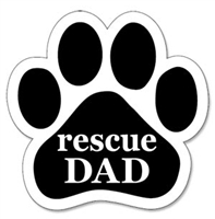 Rescue Dad Paw Magnet for Car or Fridge