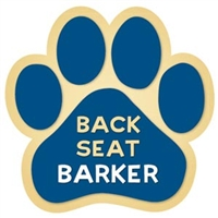 Back Seat Barker Paw Magnet for Car or Fridge