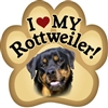 Rottie Paw Magnet for Car or Fridge