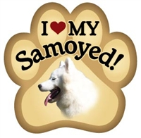 Samoyed Paw Magnet for Car or Fridge