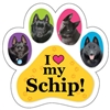 Schip Paw Magnet for Car or Fridge