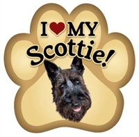Scottie Paw Magnet for Car or Fridge
