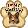 Sheltie Paw Magnet for Car or Fridge