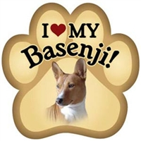 Basenji Paw Magnet for Car or Fridge