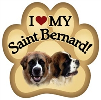 St Bernard Paw Magnet for Car or Fridge