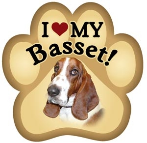 Basset Paw Magnet for Car or Fridge