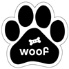 Woof Paw Magnet for Car or Fridge