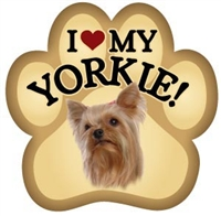 Yorkshire Terrier Paw Magnet for Car or Fridge