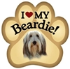 Bearded Collie Paw Magnet for Car or Fridge