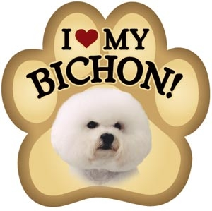 Bichon Paw Magnet for Car or Fridge