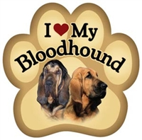 Bloodhound Paw Magnet for Car or Fridge