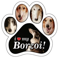 Borzoi Paw Magnet for Car or Fridge