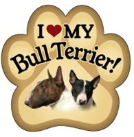 Bull Terrier Paw Magnet for Car or Fridge