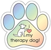 Therapy Dog Paw Magnet for Car or Fridge