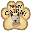 Cairn Terrier Paw Magnet for Car or Fridge