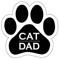 Cat Dad Paw Magnet for Car or Fridge
