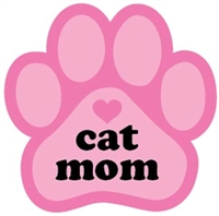 Cat Mom Paw Magnet for Car or Fridge pink