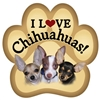 Chihuahuas Paw Magnet for Car or Fridge