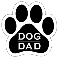 Dog Dad Paw Magnet for Car or Fridge