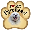 Great Pyrenees Paw Magnet for Car or Fridge
