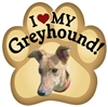 Greyhound Paw Magnet for Car or Fridge