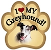 Greyhound Paw Magnet for Car or Fridge gray and white