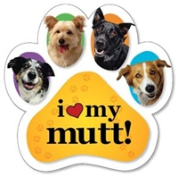 Mutt Paw Magnet for Car or Fridge