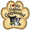 Italian Greyhound Paw Magnet for Car or Fridge