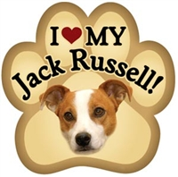 Jack Russell Paw Magnet for Car or Fridge