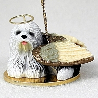 Old English Sheepdog Angel Ornament