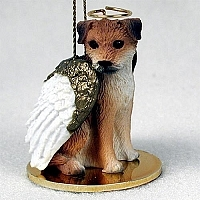 Border Terrier Angel Ornament
