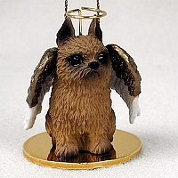 Brussels Griffon Angel Ornament
