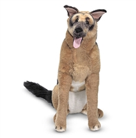 German Shepherd Life-Size Plush SaltyPaws.com
