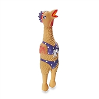 Henrietta SQUAWK! Rubber Chicken Dog Toy SaltyPaws.com