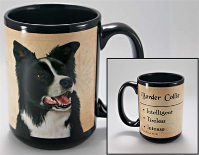 Border Collie Coastal Coffee Mug Cup www.SaltyPaws.com