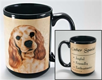 Cocker Spaniel Coastal Coffee Mug Cup www.SaltyPaws.com