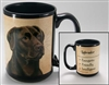 Labrador Retriever Chocolate Coastal Coffee Mug Cup www.SaltyPaws.com