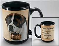 Saint Bernard Coastal Coffee Mug Cup www.SaltyPaws.com
