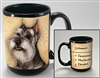 Schnauzer Cropped Coastal Coffee Mug Cup www.SaltyPaws.com