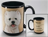 West Highland Terrier Coastal Coffee Mug Cup www.SaltyPaws.com