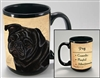 Black Pug Coastal Coffee Mug Cup www.SaltyPaws.com