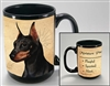 Miniature Pinscher Coffee Mug Cup www.SaltyPaws.com