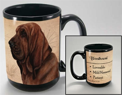Bloodhound Coastal Coffee Mug Cup www.SaltyPaws.com