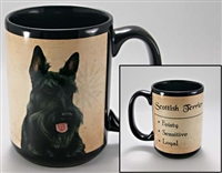 Scottish Terrier Coastal Coffee Mug Cup www.SaltyPaws.com