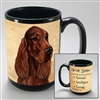Irish Setter Coastal Coffee Mug Cup www.SaltyPaws.com