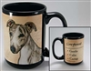 Greyhound Coastal Coffee Mug Cup www.SaltyPaws.com