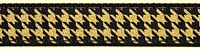 Houndstooth Black Gold Ribbon Dog Collar SaltyPaws.com
