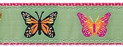 Butterfly Ribbon Dog Collar SaltyPaws.com