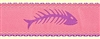 Fishbone Pink Ribbon Dog Collar SaltyPaws.com
