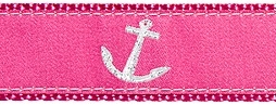 Anchor Pink Ribbon Dog Collar SaltyPaws.com